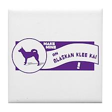 Make Mine Klee Kai Tile Coaster