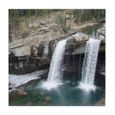 A Canadian Waterfall Tile Coaster