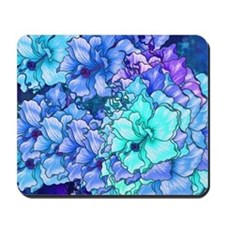 Blue Flowers Mousepad