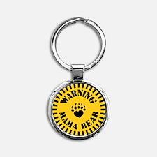 warning-mama-pnk-T Keychains