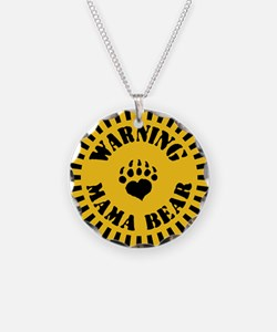 warning-mama-pnk-T Necklace
