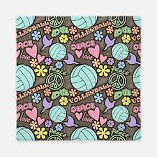 Peace, Love, Volleyball Queen Duvet