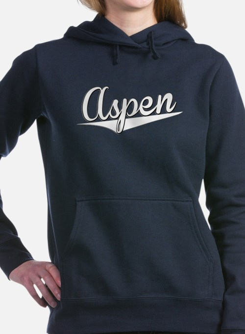 Aspen, Retro, Women's Hooded Sweatshirt