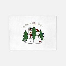 Snowmen Chills 5'x7'Area Rug