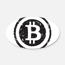 bitcoin5 Oval Car Magnet