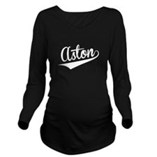 Aston, Retro, Long Sleeve Maternity T-Shirt