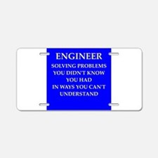 ENGINEER8 Aluminum License Plate