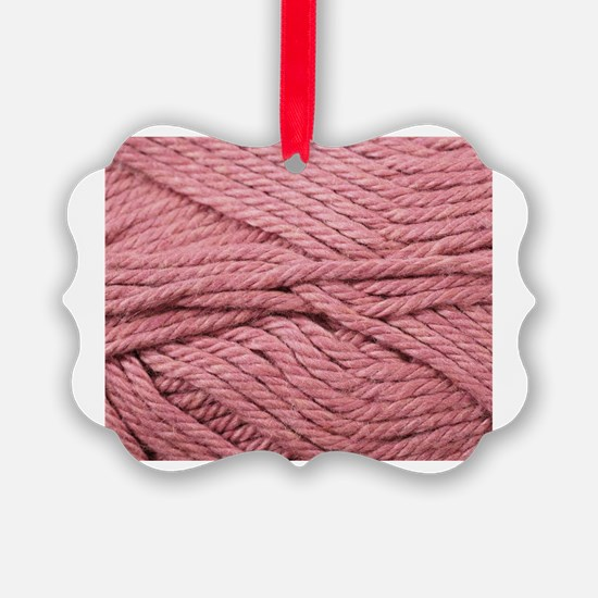 Cute Pink yarn Ornament