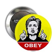 "Obey Hillary 2.25"" Button (10 pack)"