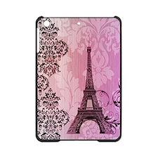 purple damask modern paris eiffel tower iPad Mini