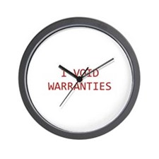 I Void Warranties Wall Clock
