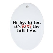 Hi Ho 50 Oval Ornament