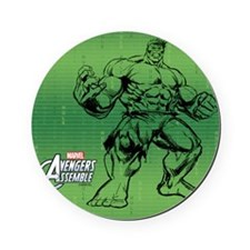 Green Hulk Cork Coaster