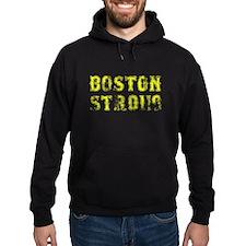 Vintage Yellow Boston Strong Hoodie