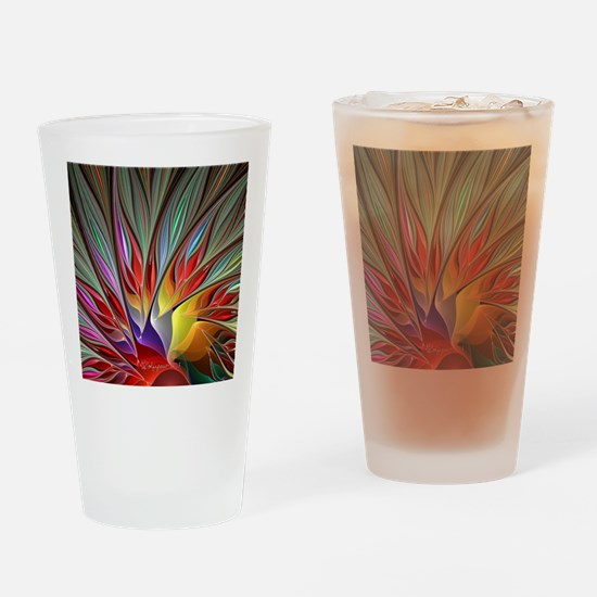 Fractal Bird of Paradise Wide Drinking Glass
