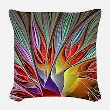 Fractal Bird of Paradise Wide Woven Throw Pillow