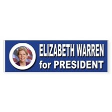 Elizabeth Warren for President 20 Car Sticker