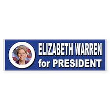 Elizabeth Warren for Presid Bumper Sticker