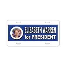 Elizabeth Warren for Presid Aluminum License Plate