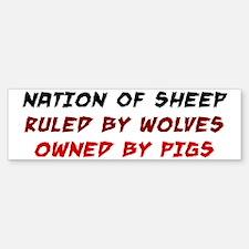 Nation of Sheep Sticker (Bumper)