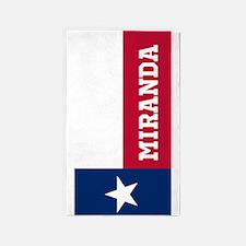 Monogram Flag of Texas 3'x5' Area Rug