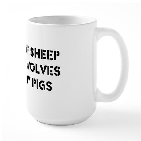 Nation of Sheep Large Mug