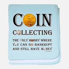 Coin Collecting baby blanket