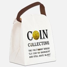 Coin Collecting Canvas Lunch Bag