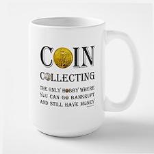 Coin Collecting Large Mug
