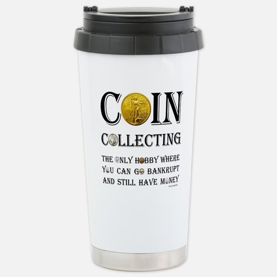 Coin Collecting Stainless Steel Travel Mug
