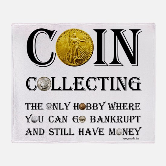 Coin Collecting Throw Blanket