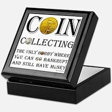 Coin Collecting Keepsake Box
