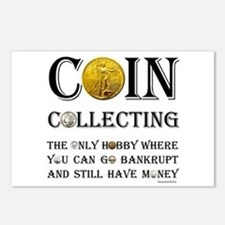 Coin Collecting Postcards (Package of 8)