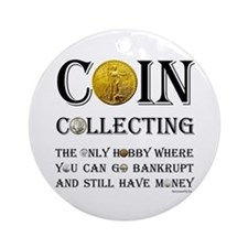 Coin Collecting Ornament (Round)