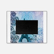 blue damask modern paris eiffel tower Picture Frame