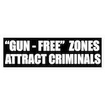 'Gun-Free' Zones Bumper Sticker