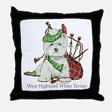 Highland Westie Throw Pillow