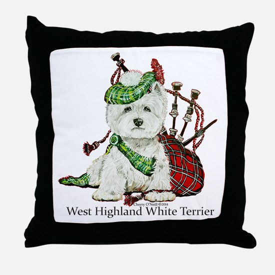 Highland Westie Throw Pillow