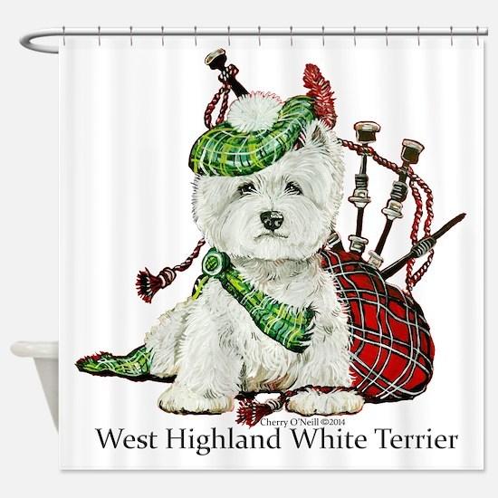 Highland Westie Shower Curtain