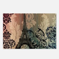 vintage damask modern paris eiffel tower Postcards