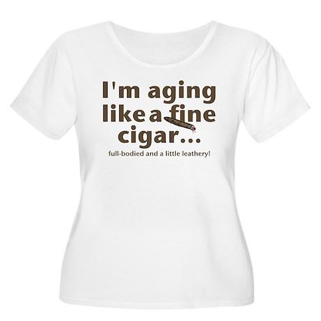 Aging Like Fine Cigars Women's Plus Size Scoop Nec