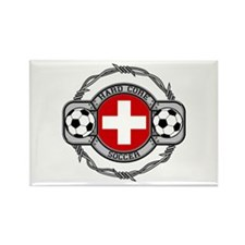 Switzerland Soccer Rectangle Magnet