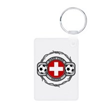 Switzerland Soccer Aluminum Photo Keychain
