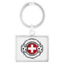 Switzerland Soccer Landscape Keychain