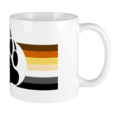 Gay Bear Pride Stripes Bear Paw Mug