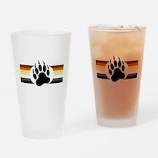 Gay Bear Pride Stripes Bear Paw Drinking Glass