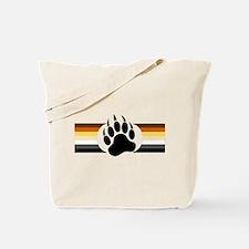 Gay Bear Pride Stripes Bear Paw Tote Bag