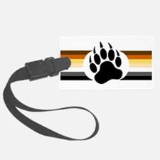 Gay Bear Pride Stripes Bear Paw Luggage Tag