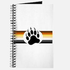 Gay Bear Pride Stripes Bear Paw Journal