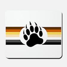 Gay Bear Pride Stripes Bear Paw Mousepad
